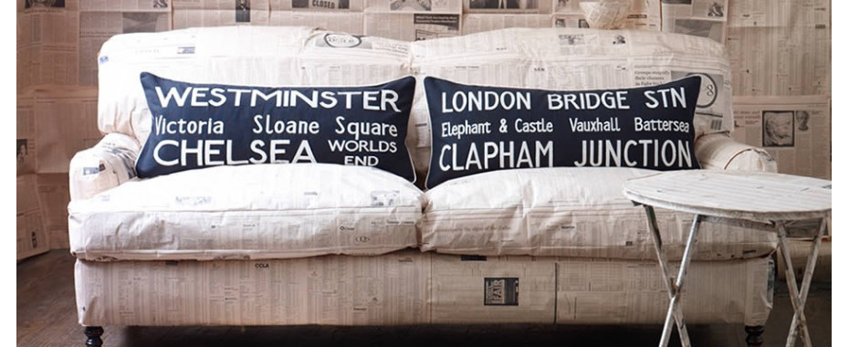 London Calling: Vintage Inspired Cushions