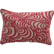 Embroidered Swirl Cushion_Pink