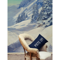 Piste Off Embroidered Wool Mix Cushion