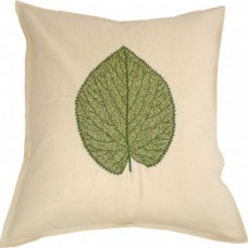 Hand-embroidered Beech Leaf