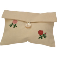 Hand-embroidered Camellia Make-up Pouch
