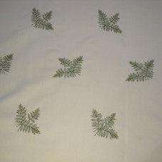 Hand-embroiderd Fabric - Ferns