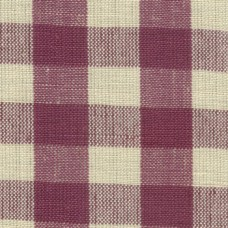 Aubergine Gingham Fabric