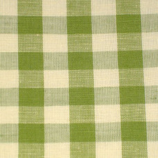 Apple Green Gingham Fabric