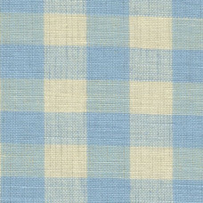 Chambray Blue Gingham Fabric