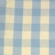 Delft Blue Gingham Fabric