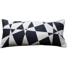Random Geometric Wool Cushion