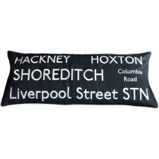 Hackney/Hoxton Embroidered Destination Cushion