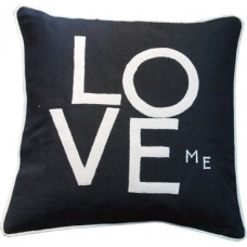 Love me Hand Embroidered & Appliqued Cushion