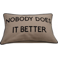 Nobody Does It Better Embroidered Cushion-Cream