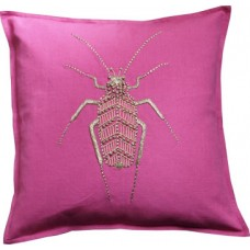 Hand embroidered metallic gold bug_pink