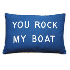 You Rock My Boat- Blue Embroidered Cushion