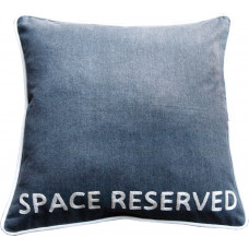 SPACE RESERVED Hand Embroidered Denim Dog Bed