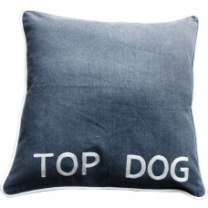 TOP DOG Hand Embroidered Dog Bed