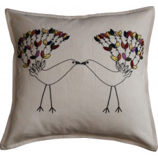 Hand-embroidered Love Birds