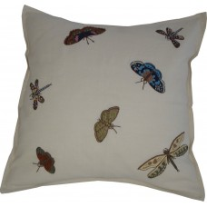 Butterflies, Dragonflies & Moths. Hand-embroidered