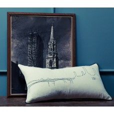 Battersea Riverside Embroidered Cushion