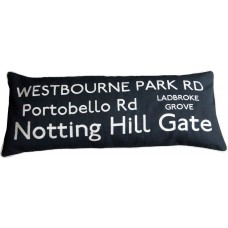Notting Hill Destination Cushion - Embroidered