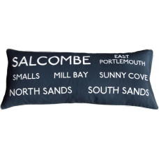 Embroidered Salcombe Destination Cushion