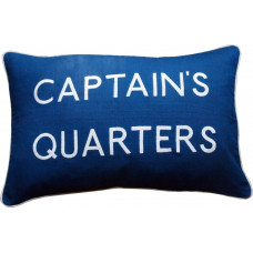 Captain's Quarters, Embroidered Cushion, Blue