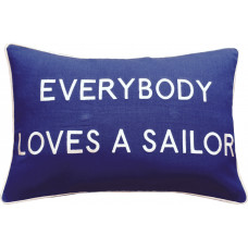 Everybody Loves A Sailor, Embroidered Cushion