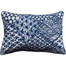 Embroidered Japanese Pattern -Blue