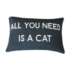 All You Need Is A Cat Embroidered Cushion
