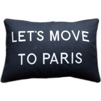 Let's Move To Paris, Embroidered Cushion