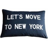 Let's Move To New York, Embroidered Cushion
