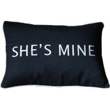 She's Mine Embroidered Cushion