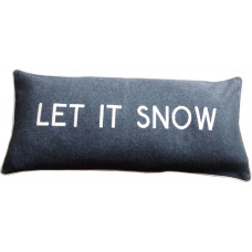 Let It Snow Embroidered Wool Cushion