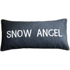 Snow Angel Embroidered Cushion