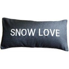 Snow Love Embroidered Cushion