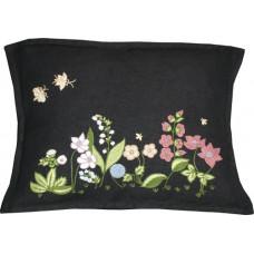Hand-embroidered Flora Garden Multi/black