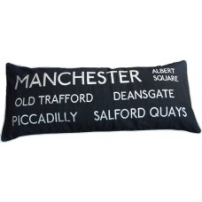 Manchester Embroidered Destinations Cushion